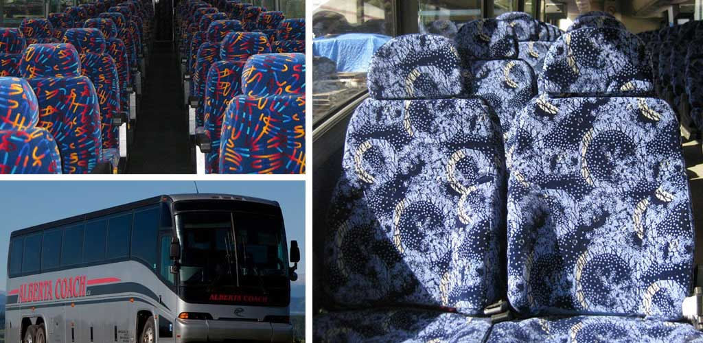 Seat covers and seat parts,seat belts, new and used coach seating